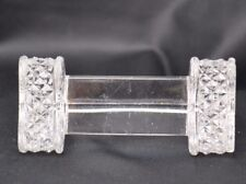 Antique Knife Rest Glass Triangle Shape