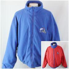 Men's Giants Game Day by Fans Gear Reversible Blue Fleece Red Nylon Jacket XL