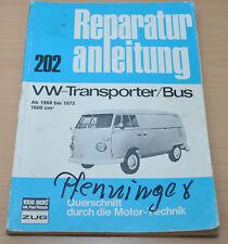 VW Transporter Bus T2 T2a ab 1968 bis 1972 Motor Buch Reparaturanleitung B202