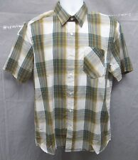 New Volcom Vex Factor Plaid Short Sleeve Shirt Mens Size Medium M