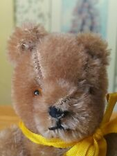 Antique Vintage 1950s miniature pin-jointed mohair German Teddy Bear  5in VGC