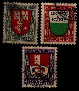SUISSE : PRO JUVENTUTE 1919, Oblitérés = Cote 40 € / Lot Timbres ETRANGER