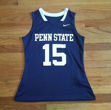New Nike Women's Medium Penn State Lacrosse Soccer Jersey Blue White W/O Tags