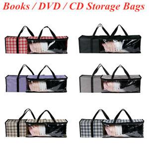 DVD CD Book Caps Storage Bags Waterproof Transparent Bag Home Storage Boxes UK