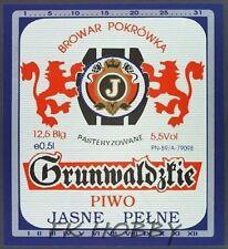 Poland Brewery Pokrówka Grunwaldzkie Beer Label Bieretikett Cerveza pk12.2