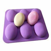 Kuchen Seifenform 6-Oval Flexible Silikonform für Süßigkeiten Schimmel Handwerk