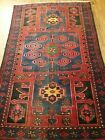 Distressed Hand Knotted Antique/Vintage Hamidoun Wool Area Rug 7 x 4 Ft
