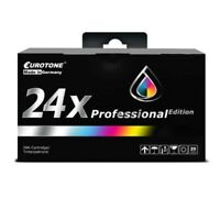 24x Eurotone Pro Ink For Epson Stylus Photo R-320 RX-500 R-200 R-300-M R-340