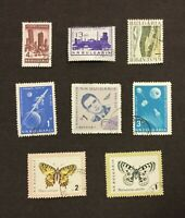 LOT OF 8 BULGARIA BULGARIAN POSTAGE STAMPS COLLECTED IN 1960'S SPACE BUTTERFLY