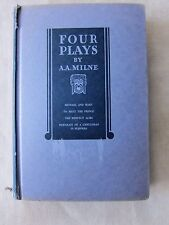 Old Book Four Plays by A.A. Milne 1932 GC