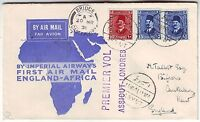 1931 Asyut Egypt to England First Flight Cover via Imperial Airways FFC