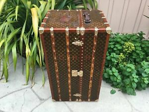 LOUIS VUITTON MALLE Wardrobe Monogram Steamer Trunk chest purse bag LV antique