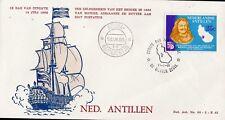 FDC7 Antilles Hollandaises, enveloppe 1T. oblitéré EERSTE DAG : Navigateur