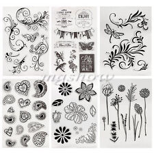 Alphabet Silicone Clear Transparent Rubber Stamp Sheet Cling Scrapbooking DIY
