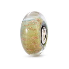 "Trollbeads Damen Bead Glas Silber ""Farbe des Friedens"" TGLBE-10267"