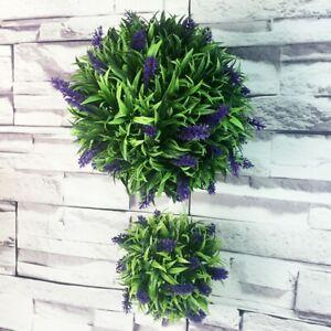 30CM Artificial Purple Lavender Flower Ball Hanging/Topiary Garden/Basket Plant