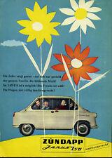 Zündapp - Janus 250 - blühende Welt - Werbung von 1958 - Farbe