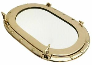 Large Brass Porthole Nautical Maritime Boat Ship Porthole Window Wall Mirror