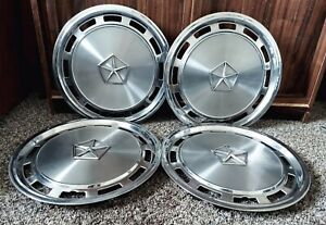 """Set of 4 OEM 1982-1988 Chrysler Dodge Plymouth 14"""" Hubcaps Wheel Covers 4284064"""