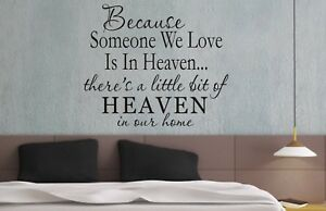 Because Someone We Love Wall Art Sticker Quote - 3 sizes - Bedroom wall 057