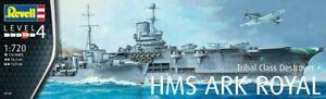 Revell 1:720 scale model kit HMS Ark Royal & Tribal Class Destroyer RV05149