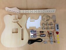 E-218DIY Telecaster Style Electric Guitar DIY Pack-Full Kit No-Solder,Neck Glued