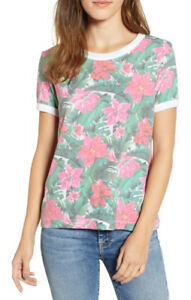 Wildfox Womens Island Holiday WSP1883E5 Top Relaxed MLTI Multicoloured Size XS