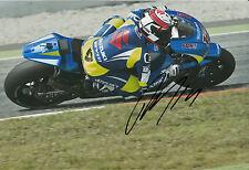 Randy de Puniet Firmada A Mano Suzuki MotoGP 2014 12x8 Foto 3.
