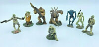 2005 Hasbro LFL Star Wars Character Action Figures Yoda Chewbacca Lot Of 8