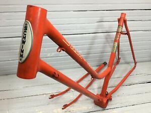 1970 Schwinn Varsity Orange Frame Fork 27 Inch Wheels Ladies Step Thru Vintage