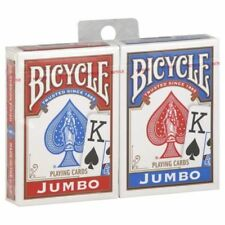 More details for 12 x bicycle playing cards decks 6 red & 6 blue casino poker snap family games