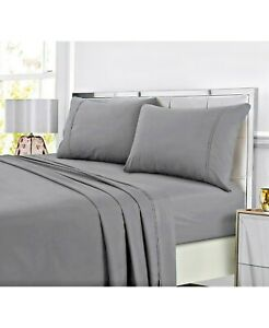 Solid Easy Care 4 pc bed Sheet Set (California King) Dark Gray - Made By Design