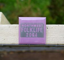 "Northwest Folklife 2004 Play Dance Sing Taste Learn 2"" Square Pinback Button"