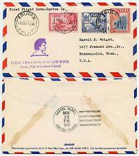 Fiji primo volo per Cantone isola 1941 transpacific Airmail