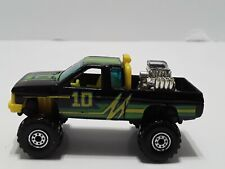 Hot Wheels 1987 Black Racing Truck With Engine In Bed