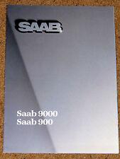 1985 SAAB 900 9000 brochure Poster-Turbo réserves quant, turbo 16, 900i, combi coupe
