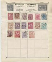Romania Stamps on Album Page ref  R 18856