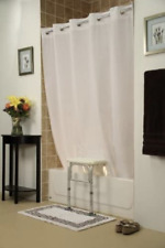 Hookless Shower Curtain, Bench Buddy, White, For All Tub Transfer Benches