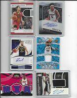 Quick Hits NBA Basketball Card Hot Pack! 1 Auto or Jersey, RCs Prizms!