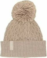 Calvin Klein Heathered Almond Cable knit women's Beanie knit hat retail $40