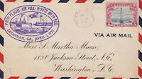 US Airmail 1931 First Flight Savannah Industrial Slogan Stamp Cover Ref 48515