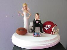 Kansas City Chiefs Cake Topper Bride Groom Wedding Day Funny Football Theme