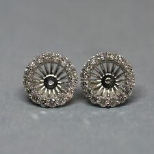 4f61a9b85be3c Halo Diamond Earring Jackets | eBay