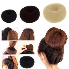 Women Trendy Blonde Donut Hair Ring Bun Former Shaper Hair Styler Magic Gifts