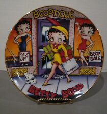 1993 Betty Boop Danbury Mint Limited Edition Collector Plate Shop Till You Drop