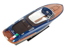 HANDCRAFTED WOODEN MODEL SPEED BOAT SHIP RIVA ISEO GREAT GIFT - DECOR 70cm