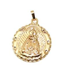 Virgen de la Caridad del Cobre 18k Gold Plated Pendant with 22 inch Chain