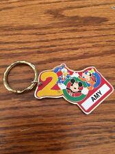 """Walt Disney World Personalized """"AMY"""" Keychain Used"""