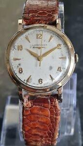 Gents 9Ct Gold Longines Hand Wind Wristwatch