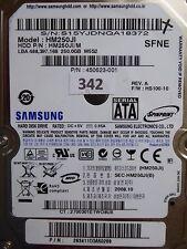 250gb samsung hm250ji/M | p/n: 293411cqa50289 | 2008.10 | #342